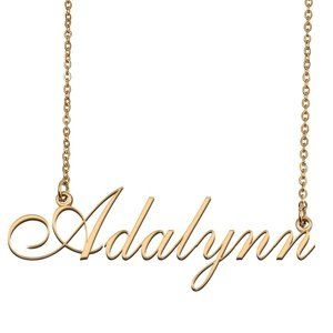 Custom Personalized Adalynn Name Necklace